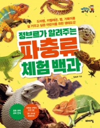 정브르가 알려주는 파충류 체험 백과 : 도마뱀, 카멜레온, 뱀, 거북이를 잘 키우고 싶은 어린이를 위한 생태 도감  책표지